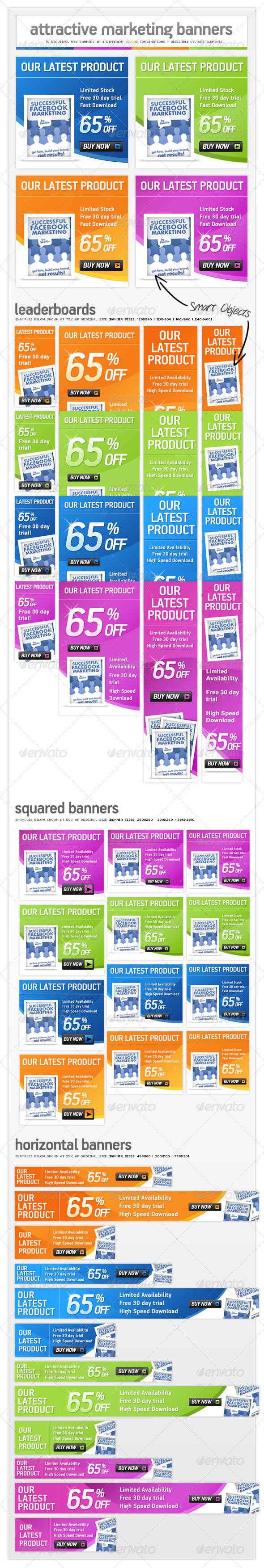 GraphicRiver Online Marketing Pack Web Banner Ads 310132