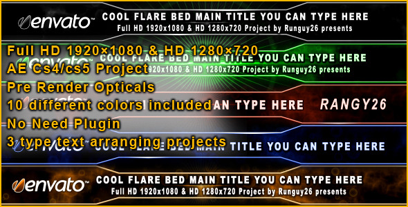 After Effects Project - VideoHive Cool Flare Bed 310155