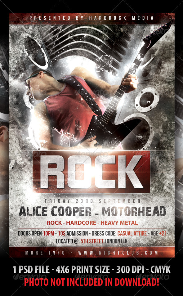 Rock Concert Flyer - Clubs & Parties Events