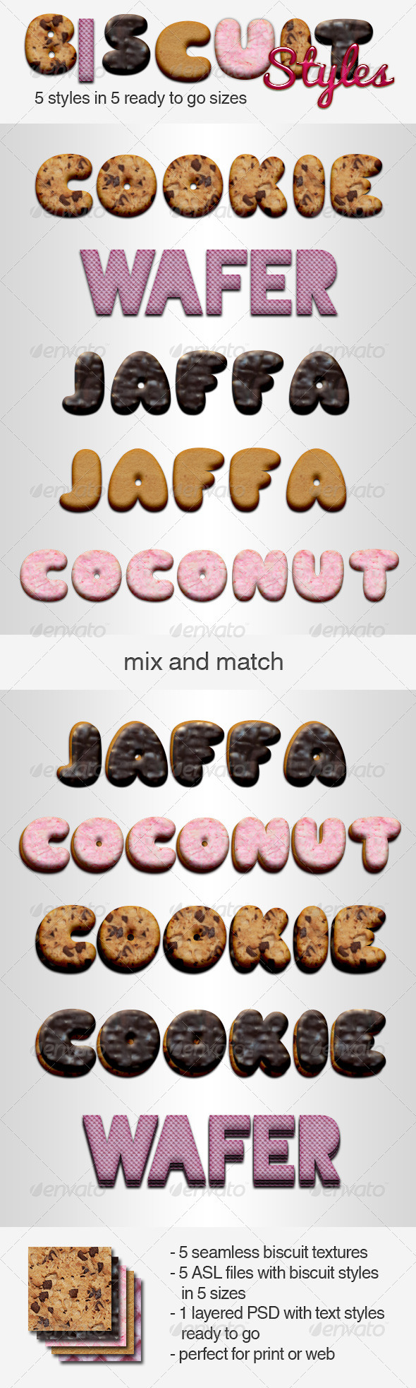 Biscuit Styles - Text Effects Styles