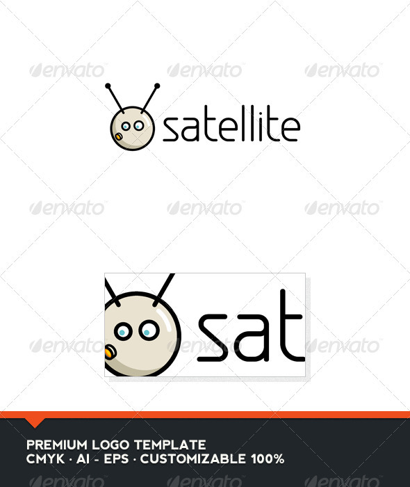 Satellite Logo Template - Objects Logo Templates