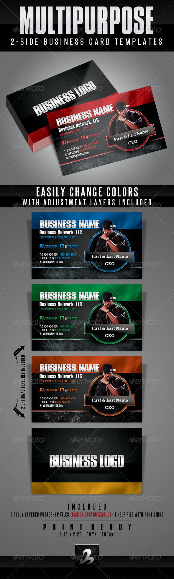 GraphicRiver Multipurpose Business Card Templates 1 3011348
