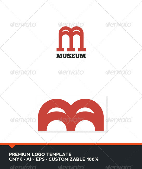 Museum Letter M and W Logo Template