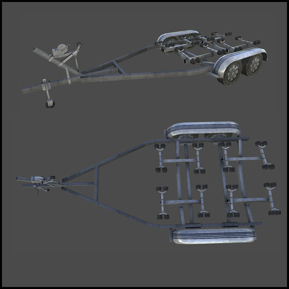 3DOcean Car Trailer 3023353