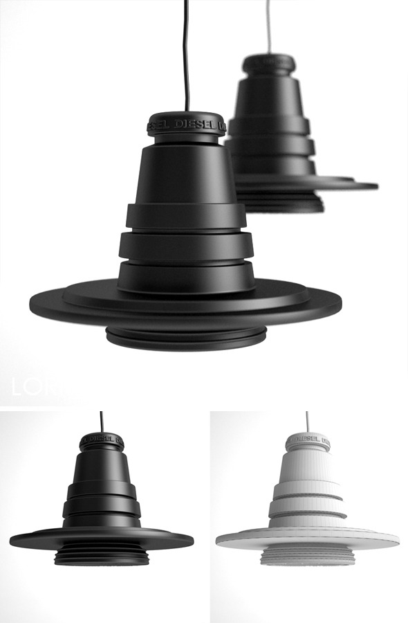 3DOcean Foscarini Tool Grande pendent lamp 310274