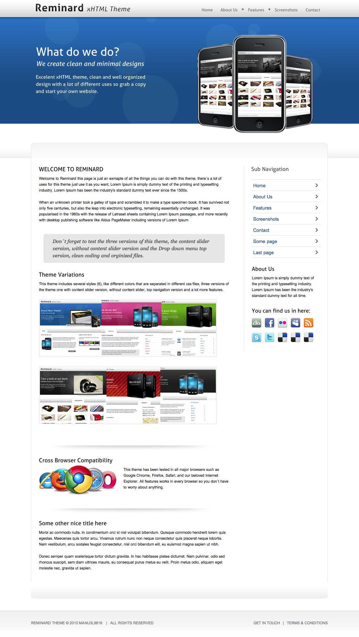 Reminard xHTML Theme