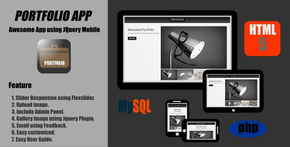 CodeCanyon Portfolio App Jquery Mobile 3023601