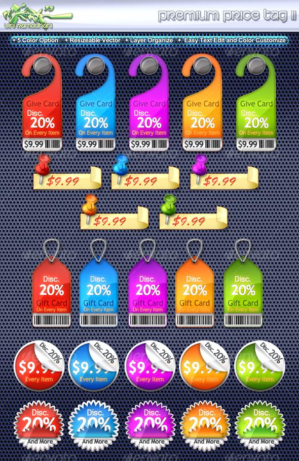 Premium Price Tag 2 - Miscellaneous Web Elements