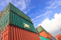Stack of Cargo Containers at the docks - PhotoDune Item for Sale