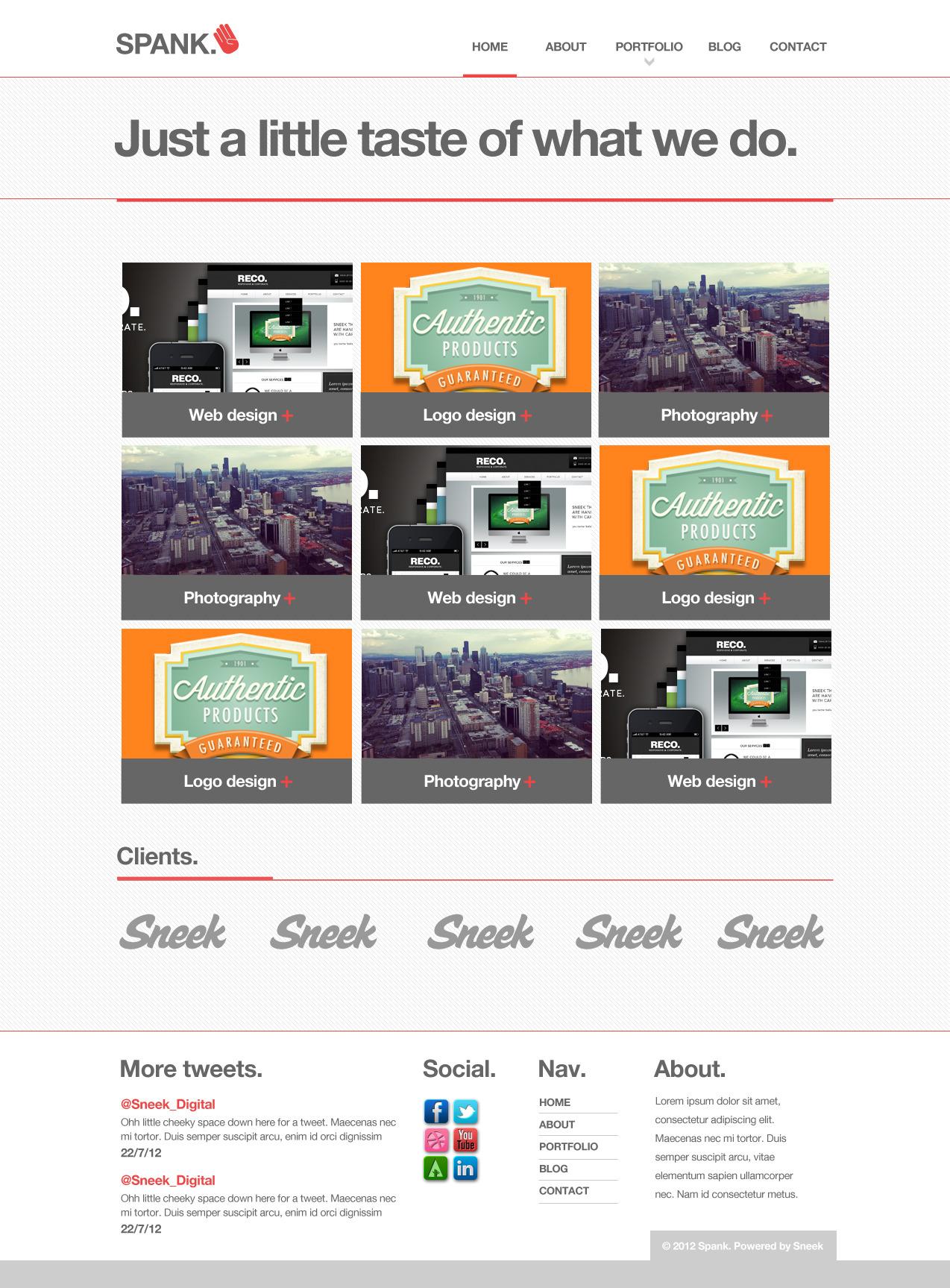 Spank - Portfolio Template