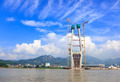 The tower of cable-stayed bridge under construction - PhotoDune Item for Sale