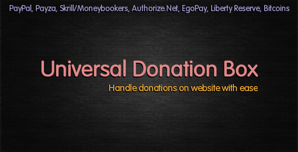 CodeCanyon Universal Donation Box 2952313