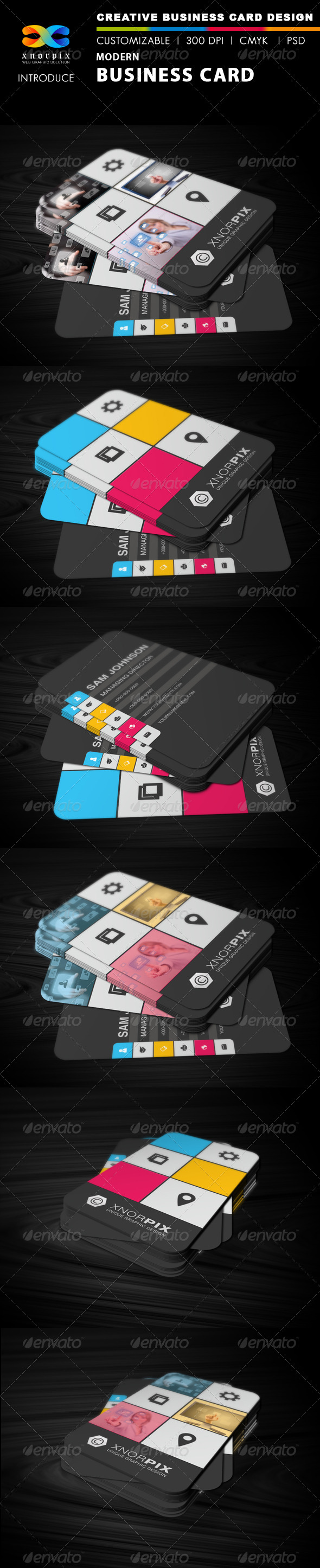 GraphicRiver Modern Business Card 3025368