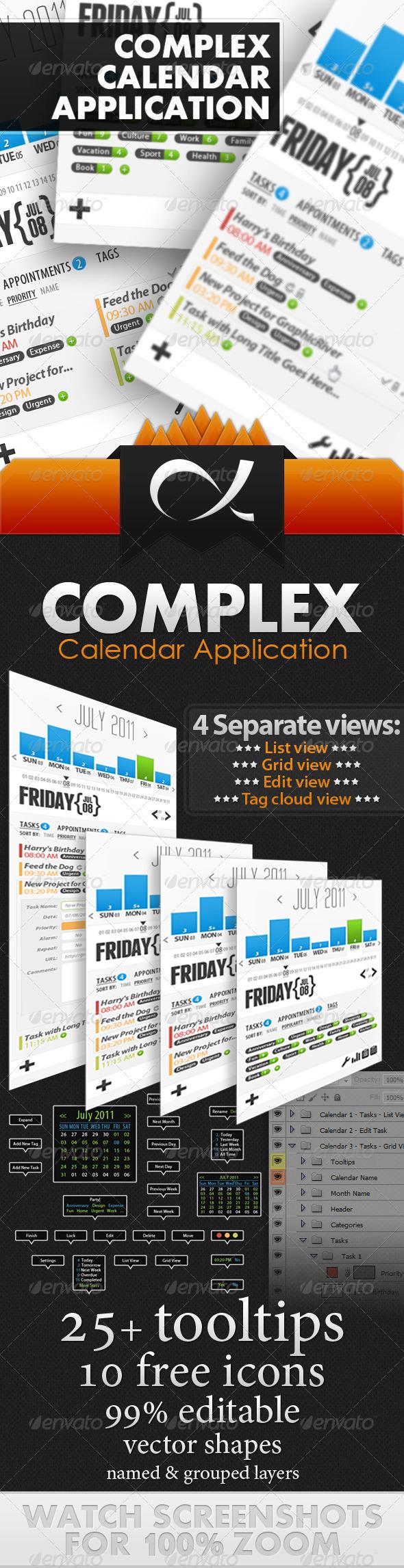 Complex Calendar Application - Miscellaneous Web Elements