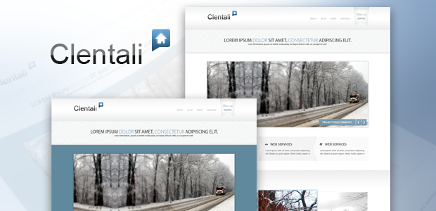Clentali psd template - 00_preview_large image