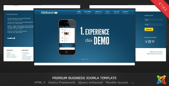 50 high quality joomla templates web graphic design bashooka aldebaran joomla 16 business template flashek Choice Image