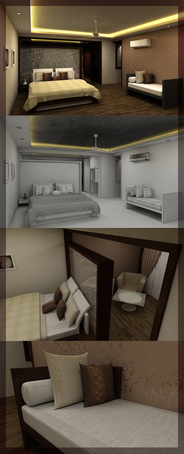 3DOcean Bed Room 3D interior design 8080 107 3026015