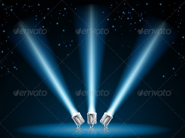 Search or spot lights illustration