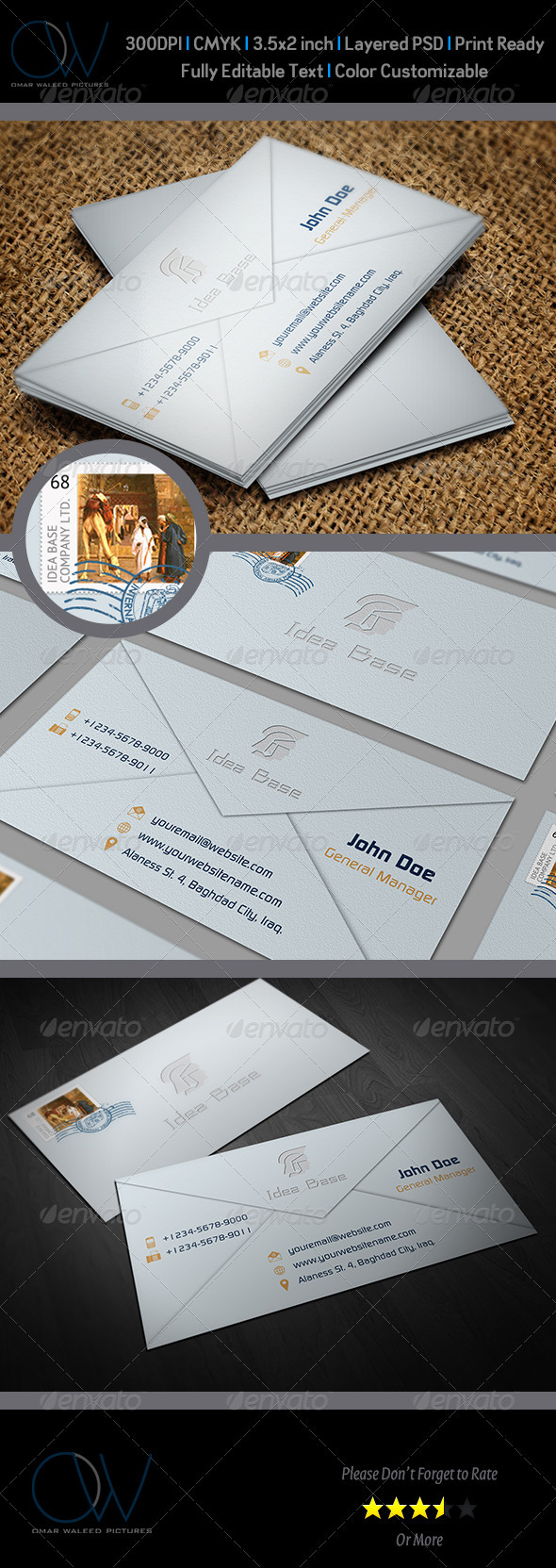 Envelope Business Card - Corporate Business Cards