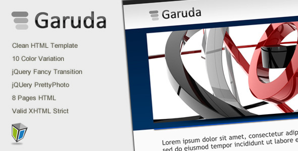 ThemeForest Garuda Portfolio and Business HTML Template 107678