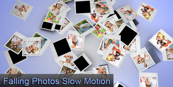 VideoHive Falling Photos Slow Motion 3027060