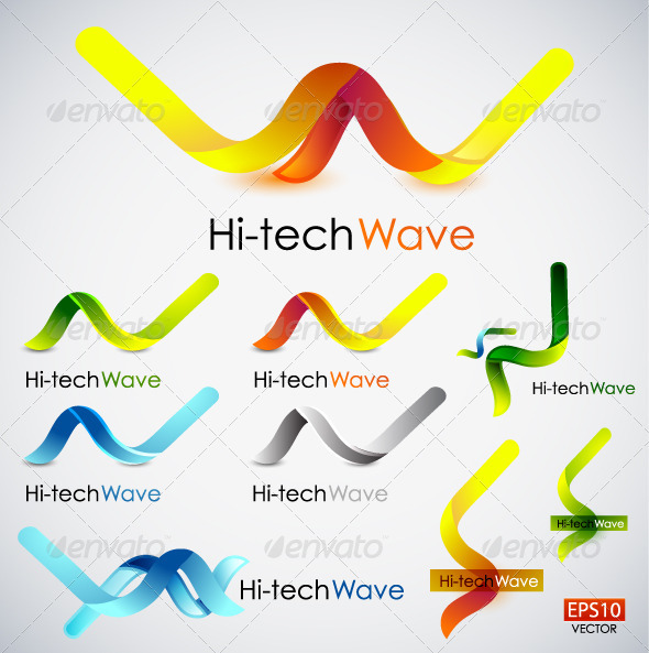 Shiny Vector Waves - Decorative Symbols Decorative