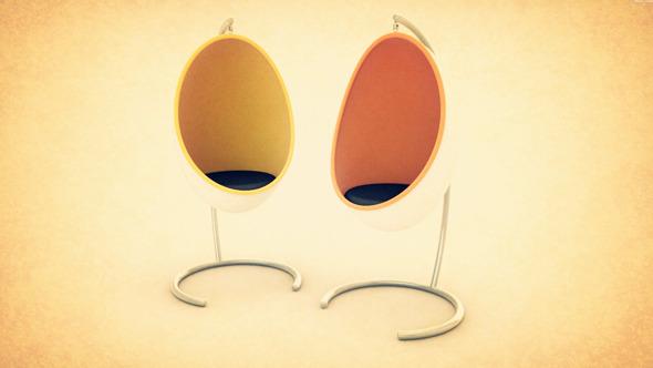 3DOcean Rockin Egg Chair Model 310713