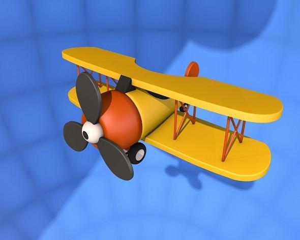 3DOcean Cartoon Plane 3D Model 3027164