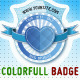 10 Retro Colorful badges - GraphicRiver Item for Sale