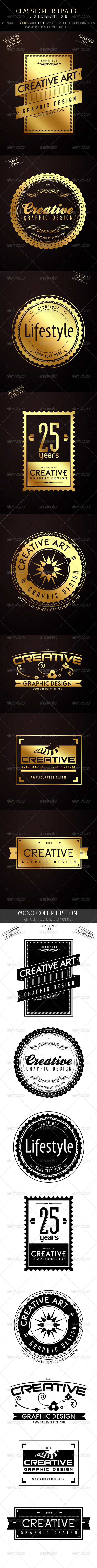 GraphicRiver Classic Badge Collection 3008278