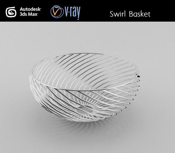 3DOcean Swirl wire Basket 3027448