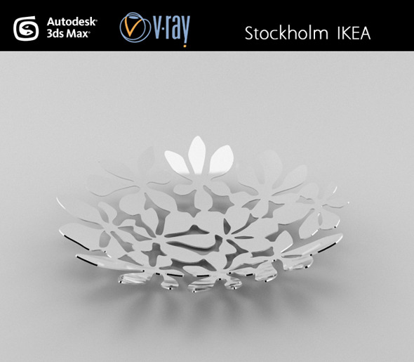 Stockholm IKEA basket - 3DOcean Item for Sale