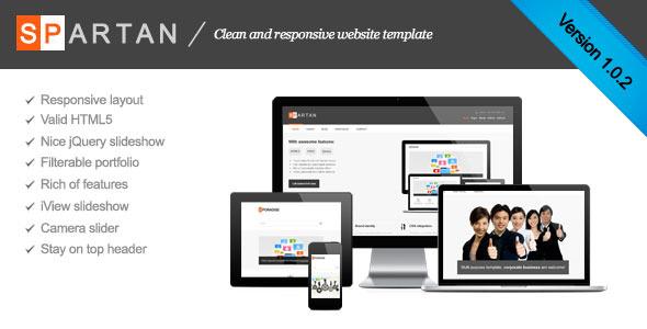 Spartan clean responsive business template