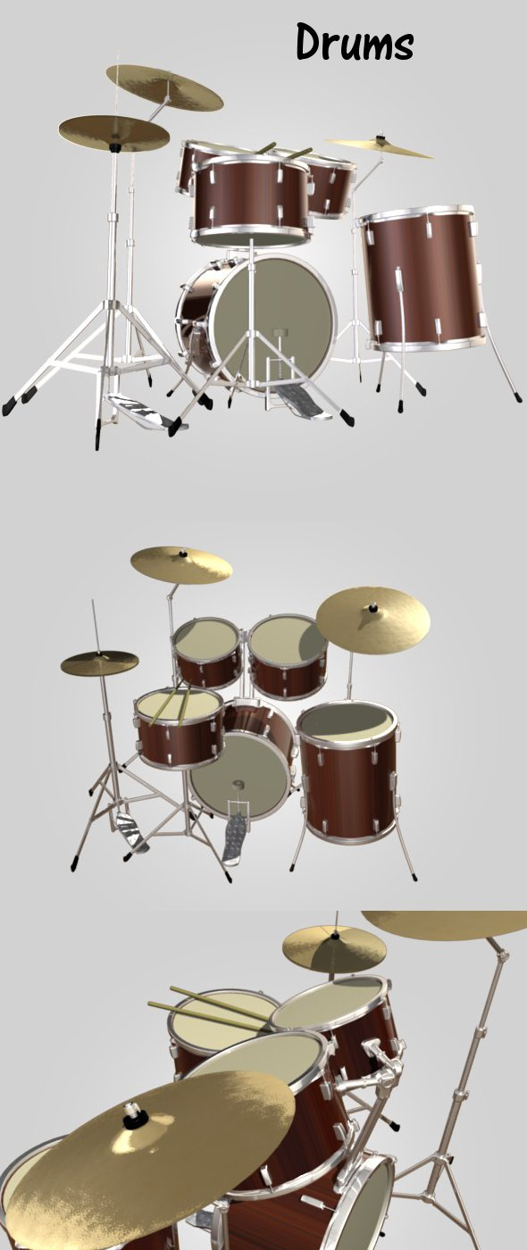 Drums - 3DOcean Item for Sale