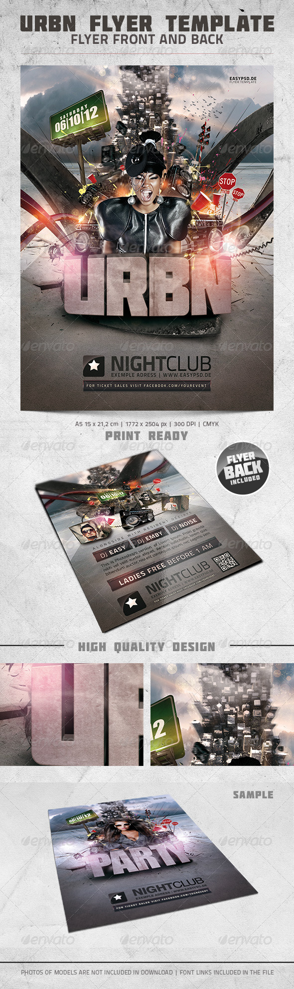 URBN Flyer Template - Clubs & Parties Events
