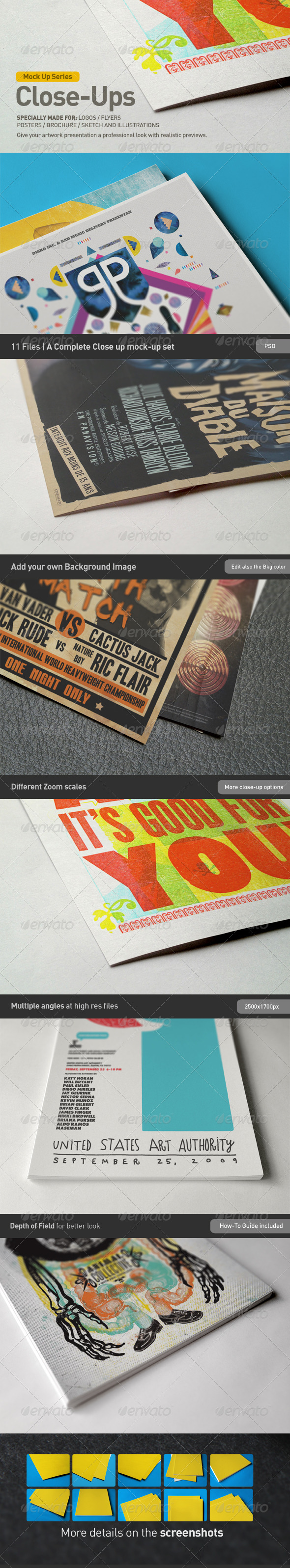 Close-Up Mock-Up - Miscellaneous Print
