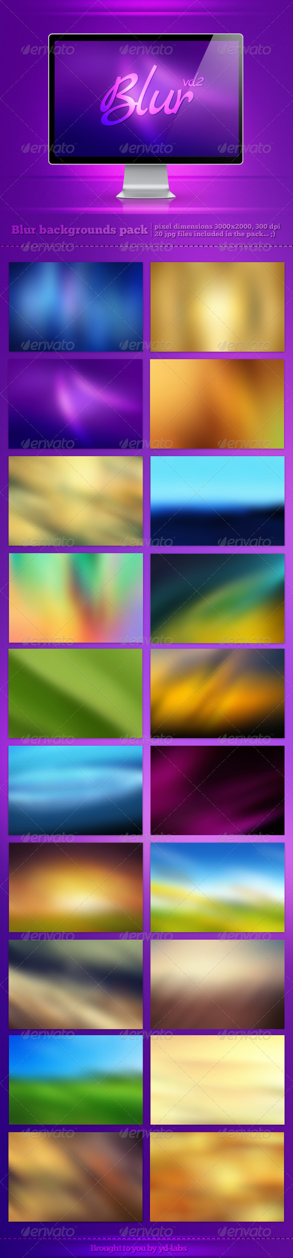 GraphicRiver Blur Backgrounds Pack 2 3014549