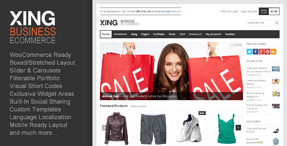 Xing - Business / ecommerce WordPress Theme - ThemeForest Item for Sale