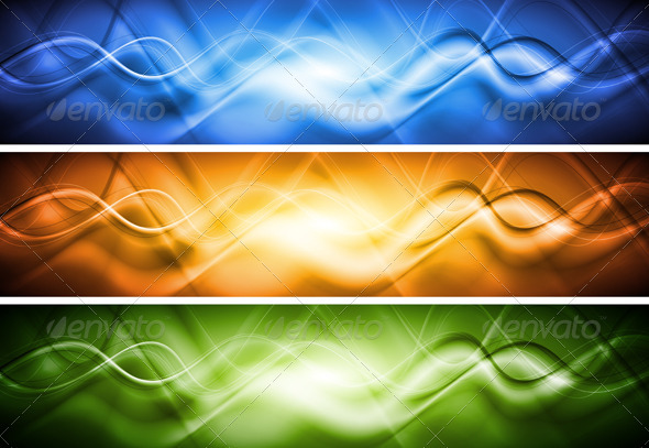 Bright vector banners - Backgrounds Decorative