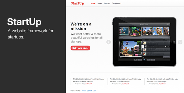StartUp - Website framework for Startups