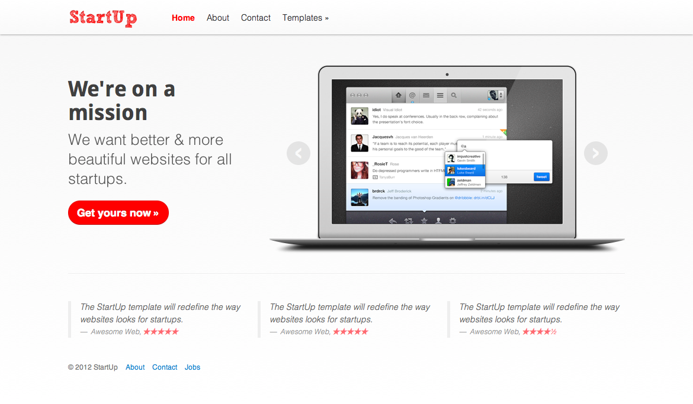 StartUp - Website framework for Startups
