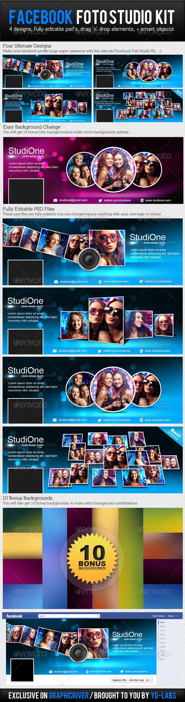 Facebook Foto Studio Kit - Facebook Timeline Covers Social Media