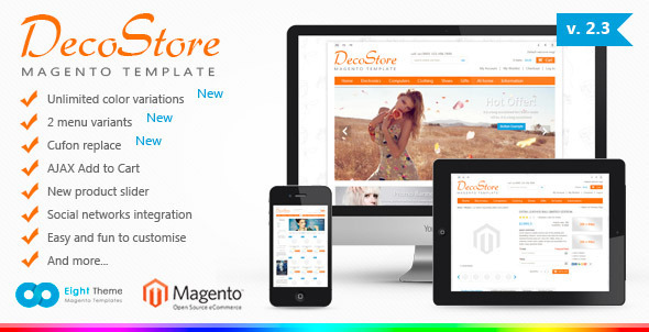ThemeForest DecoStore Magento Theme 1876494