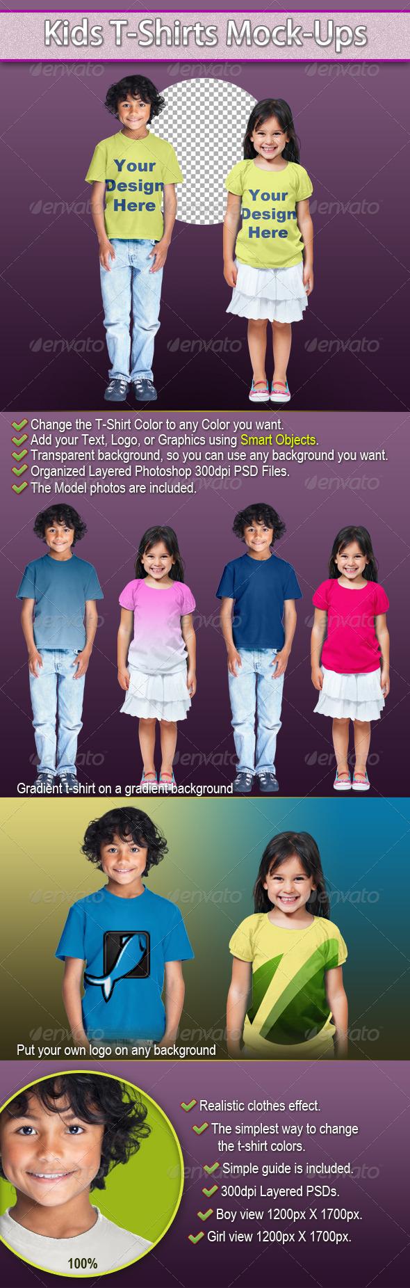 Kids T-Shirts Mock-Ups