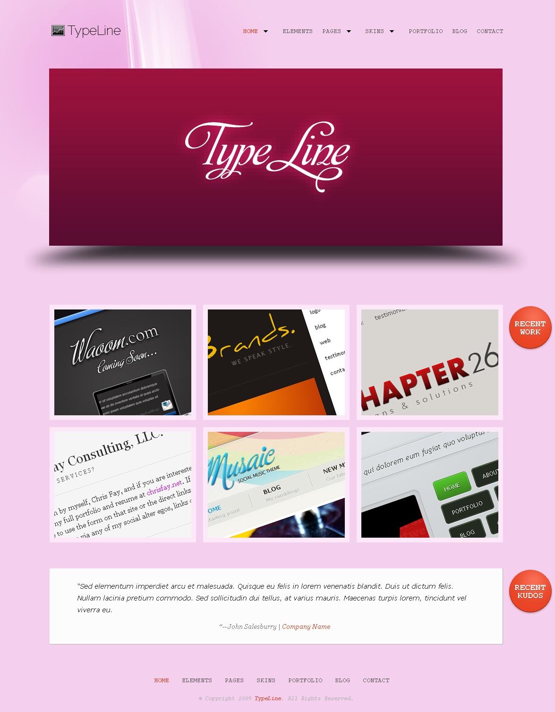 TypeLine - Minimal HTML Theme