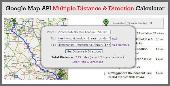 CodeCanyon Multiple Distance & Direction Calculator 311241