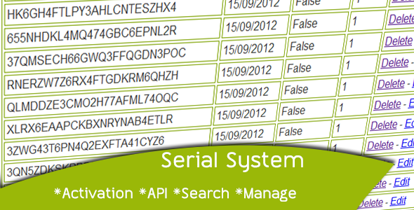 Serial System - CodeCanyon Item for Sale