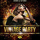 Vintage Gold Party Poster/Flyer - GraphicRiver Item for Sale