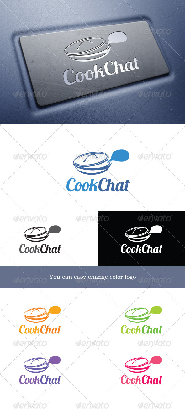 CookChat - Food Logo Templates