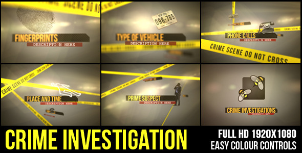 After Effects Project - VideoHive Crime Investigation 3017392
